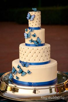 cerulean blue wedding cake - Google Search