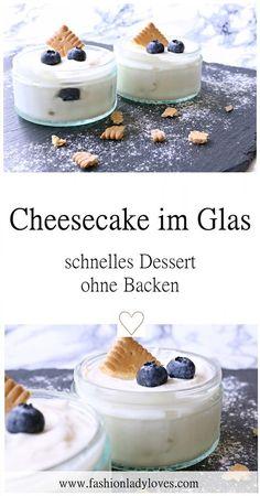 Dieses erfrischende Dessert ist superschnell gemacht und schmeckt extrem lecker. Es eignet sich auch perfekt als Mitbringsel für eine Grillparty. Ein Käsekuchen Dessert im Glas, ohne Backen.