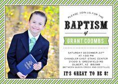 Love this baptism announcement! #baptism