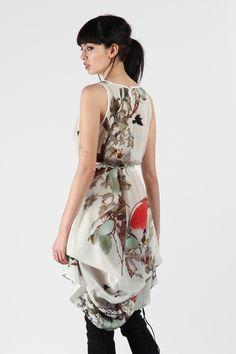 White Opium Parachute Dress