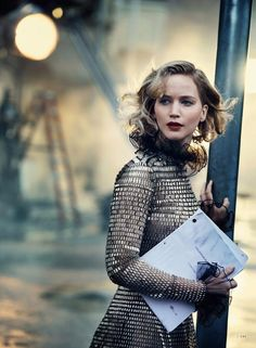 Jennifer Lawrence by Peter Lindbergh … Jessica Diehl (style) … Odile Gilbert (hair) … Fulvia Farolfi (make-up) … Deborah Lippmann (nails) … Star Without a Script, Vanity Fair US, December 2016