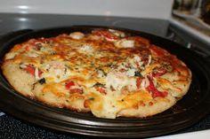 Upstate NY Style Shrimp Margarita Pizza with Fresh Pizza Dough Recipe