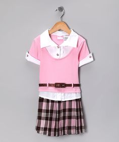 Take a look at this Light Pink Plaid Dress - Infant, Toddler & Girls by Nannette on #zulily today!