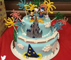 Pin by Amy Lynn on Disney Cakes Pinterest Tiered cakes Walt