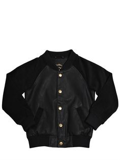 Embroidered Faux Leather Bomber Jacket on shopstyle.com