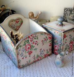 "Набор для кухни ""Уютный"" - белый,голубой,набор для кухни,набор,винтаж"