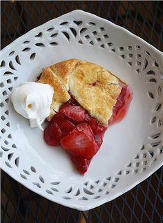 Strawberry Galette by The Comfort of Cooking #Strawberry_Galette #thecomfortofcooking