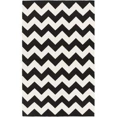 Artistic Weavers York Black Chevron Pheobe Area Rug Rug Size: 10' x 14'