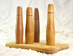 Gilmour Design - Pepper Mills in Silky Oak, Satin Sycamore & Queensland Kauri (x2)