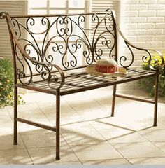 (Discontinued) Scroll Garden Bench