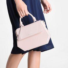 Hexagon Top Handle Bag | CHARLES & KEITH