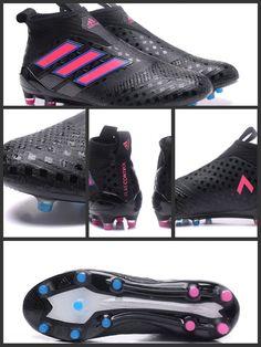 buy popular b7c1c 728ef Scarpe da Calcio 2017 Adidas ACE 17+ Purecontrol FG Nero Rosa Shock Blu