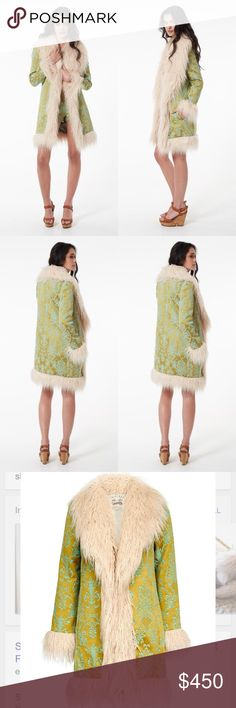 NWT Spell Anastasia Brocade Faux Fur Jacket Spell & the Gypsy Collective Anastasia Faux Fur Jacket in a size S/M!!! It's stunning and the faux fur is soft and cozy. Such a statement piece!                  I bought this directly from a boutique in Australia. Listed for less on Ⓜ️ Spell & The Gypsy Collective Jackets & Coats