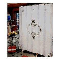 Battenberg Lace Shower Curtain
