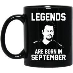 Mark Wahlberg Mug Legends Are Born In September Coffee Mug Tea Mug
