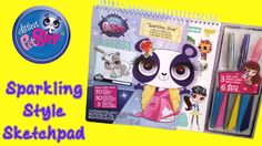 LPS Sparkling Style Sketchpad Littlest Pet Shop videos for children ToyBoxMagic. Watch us open and test out this awesome Littlest Pet Shop LPS Sparkling Style Sketch Pad which contains glitter pens, crayons and stickers!  Subscribe to our ♥awesome♥ channel here: https://www.youtube.com/toyboxmagic