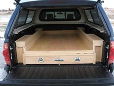 Diy Truck Bed Tool Storage, Homemade Camping Truck Bed Storage and Sleeping Platform - Trucks Image Gallery Truck Bed Storage, Tool Storage, Truck Bed Organizer, Storage Ideas, Vehicle Storage, Drawer Ideas, Camping Storage, Tool Organization, Storage Boxes