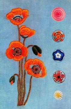 1968 Vintage Japanese embroidery pattern