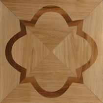Engineered parquet flooring / solid / in wood / textured