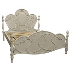 With its cream finish and intricately carved detailing, this beautiful bed frame infuses your home with a sense of classic French elegance. Arrange alongside...