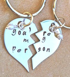 you're my person you're my person keychain Grey's by natashaaloha, $24.00