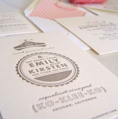 Letterpress Wedding Invitations | 42 Pressed  | Available at Rock Paper Scissors in Ann Arbor, Michigan!