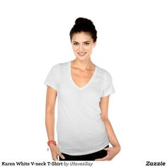 Karen White V-neck T-Shirt Shirt