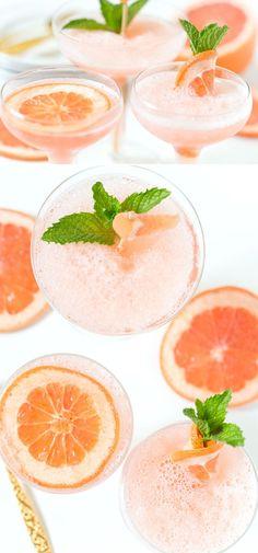Frozen Rosé Grapefruit Cocktail | SO delicious, my favorite cocktail! Pizzazzerie.com