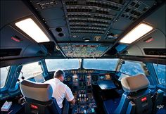Being a photographer AND a commercial pilot gives Karim Nafatni some great opportunities to capture these outstanding images of the cockpit. Commercial Pilot, Commercial Aircraft, Drones, Cool Pictures, Cool Photos, Amazing Photos, Photo Voyage, Arabian Sea, Airline Tickets