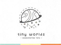 Tiny Worlds Toy Co. designed by Dave Chenell. Connect with them on Dribbble; Kids Branding, Logo Branding, Branding Design, Best Logo Design, Web Design, Graphic Design Inspiration, Graphic Design Art, Toys Logo, Tiny World