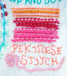 TAST: pekinese stitch