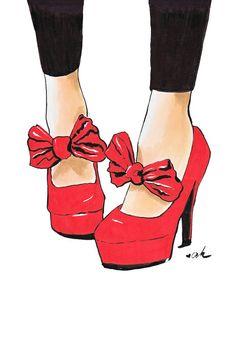 Let's Dance 8 Print of Original Fashion Illustration Shoe Sketches, Fashion Sketches, Fashion Art, Fashion Shoes, Fashion Design, Dance Fashion, Fashion Women, Posters Vintage, Illustration Mode