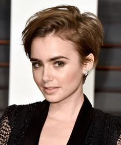 Lily Collins's shaggy pixie.