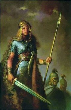 Hervor was a powerful, fearless Viking warrior woman who didn't take crap from anyone – living or dead – avenged her father's death with a magical sword, led Norse raiding parties in the pillage and plunder of unsuspecting civilizations, and proved to everyone under her command that she had bigger, brassier balls than any other Viking warrior in Norway - www.badassoftheweek.com Read more about Hervor http://www.badassoftheweek.com/hervor.html and http://en.wikipedia.org/wiki/Hervor