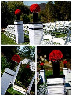 Black, White & Red Wedding | celebratelifepartyplanning.com