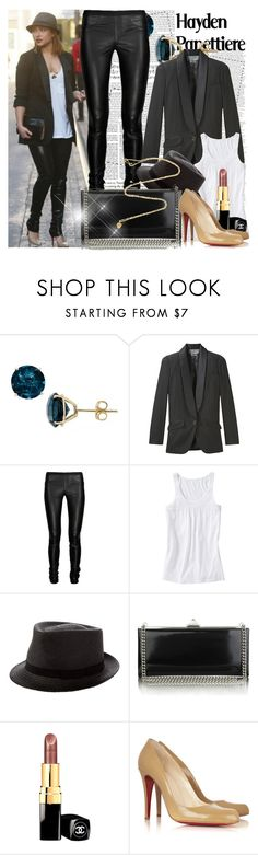 """238. Celebrity Style: Hayden Panettiere"" by amber-nicki-rose ❤ liked on Polyvore featuring Ice, McQ by Alexander McQueen, Helmut Lang, Old Navy, Anthony Peto, Christian Louboutin, Chanel and Daisy Knights"