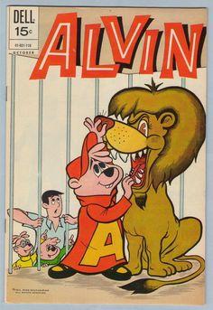 Alvin Dell Comics Silver Age Alvin and the Chipmunks Comics Classic Comics, Classic Cartoons, Vintage Cartoon, Vintage Comics, Book Cover Art, Comic Book Covers, Best Comic Books, Alvin And The Chipmunks, Bedroom Wall Collage