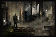 dieselpunk city