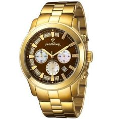 Just Bling Men's JB-6218-G Classic Gold-Tone Chronograph Diamond Watch   by Just Bling