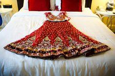 Red Bridal Lehenga.