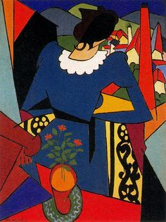 Magnelli, Alberto (1888-1971) - 1914 Woman on a Balcony (Private Collection) by RasMarley, via Flickr