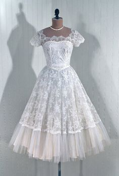 1950's Vintage Wedding Dress