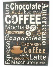 Coffee Home Decor Plaque