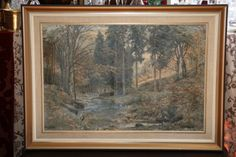 Buy Heinrich Bohmer Framed Oil on Canvas - Forest for R4,350.00