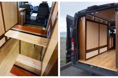 Ram Promaster cargo van converted into a multi-purpose camper