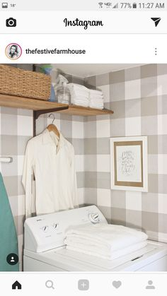 Kitchen wall paper wallpapers laundry rooms 65 ideas for 2019 – Laundry Room Pantry Laundry Room, Farmhouse Laundry Room, Farmhouse Style Kitchen, Laundry Rooms, Farmhouse Bathrooms, Bathroom Laundry, Mud Rooms, Coastal Farmhouse, French Farmhouse
