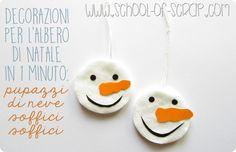 Natale in 1 minuto: i pupazzi di neve di cotone da appendere all'alberoAlessia, scrap & craft…