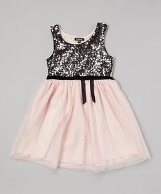 5c3966e70c Another great find on  zulily! Pink  amp  Silver Sequin Dress - Girls by