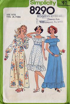 simplicity 8290 - size 5/6 yng.jr teen