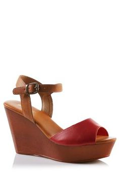 Cato Fashions Faux Wood Wedge Sandals #CatoFashions